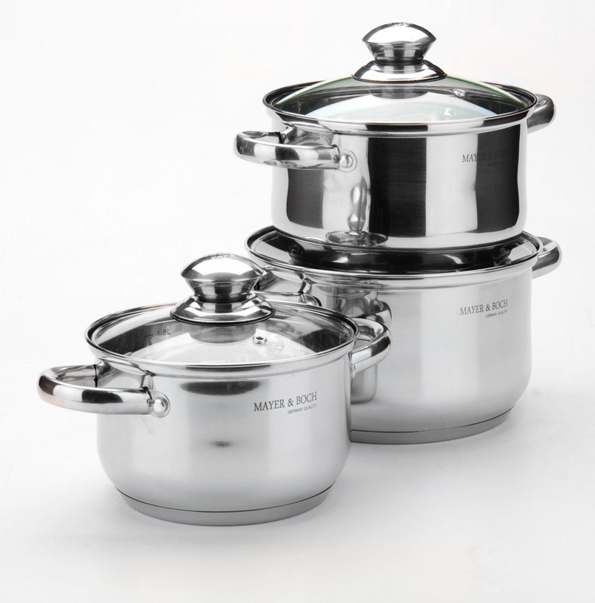 Набор посуды Mayer & Boch, 6 предметов. 413141313,5+2,5+1,9л