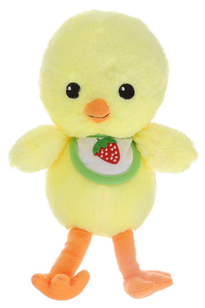 Gulliver Мягкая игрушка Цыпленок Цыпа в нагруднике 20 см gulliver мягкая игрушка цыпленок солнышко в штанишках цвет желтый черный серый 12 см