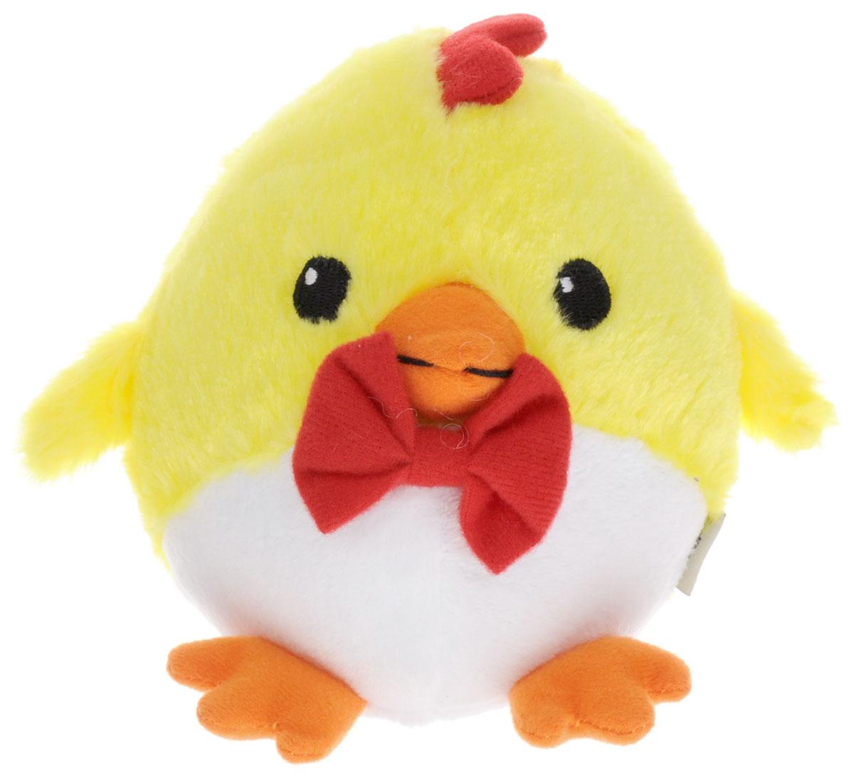 Gulliver Мягкая игрушка Цыпленок Солнышко с бабочкой 12 см gulliver мягкая игрушка цыпленок солнышко в штанишках цвет желтый черный серый 12 см