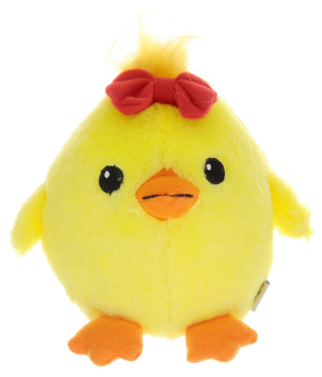 Gulliver Мягкая игрушка Цыпленок Солнышко с бантиком 12 см gulliver мягкая игрушка цыпленок солнышко в штанишках цвет желтый черный серый 12 см
