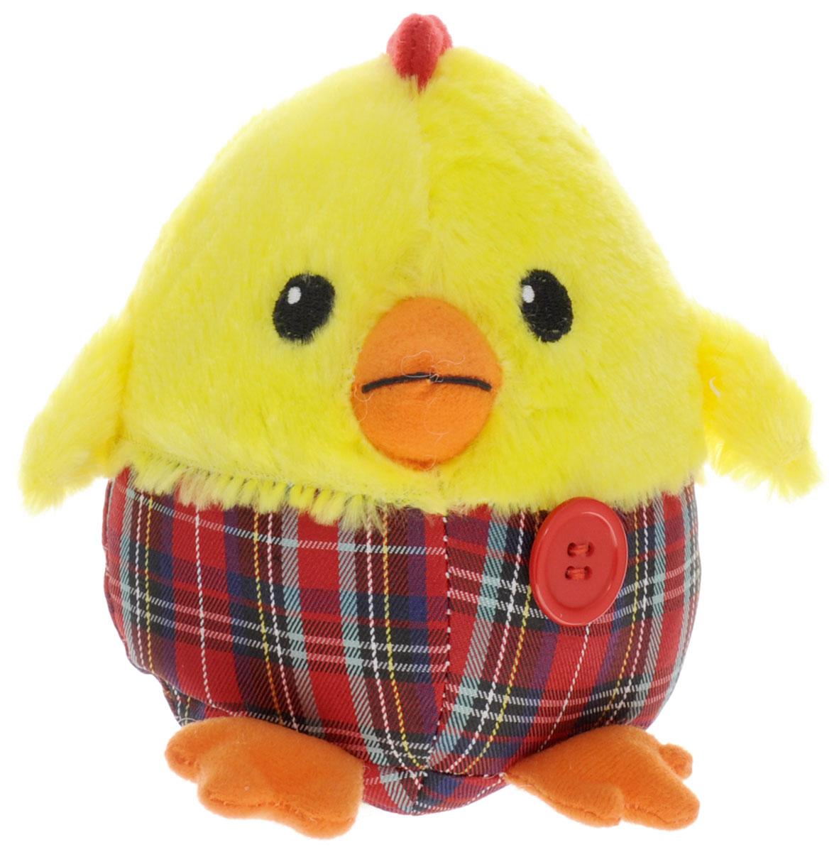 Gulliver Мягкая игрушка Цыпленок Солнышко в штанишках цвет желтый красный 12 см