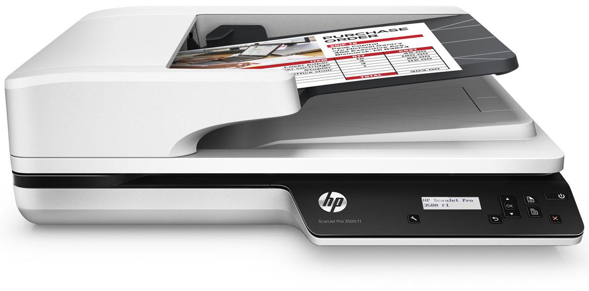 HP ScanJet Pro 3500 f1 сканер (L2741A)L2741AHP ScanJet Pro 3500 f1 - надежный высокоскоростной сканер, который может обрабатывать 3000 листов в день, что делает его идеальным решением для сложных проектов. Откройте для себя возможности двустороннего сканирования со скоростью до 50 изображений (25 страниц) в минуту. Оцените преимущества технологии HP EveryPage, которая обеспечивает точную подачу листов и упрощает работу.Быстрое и надежное двустороннее сканированиеФункция двустороннего сканирования позволяет обрабатывать до 50 изображений (25 страниц) в минуту. Устройство обеспечивает надежное сканирование 3000 листов в день. Благодаря технологии HP EveryPage с ультразвуковым датчиком ни одна страница не будет потеряна даже при сканировании большого количества разнородных материалов.Устройство АПД подходит для страниц размером до 21,6 х 309,9 см (8,5 х 122), а планшет позволяет сканировать крупные носители. Избавьте себя от ненужных ожиданий: высокоскоростное подключение USB 3.0 позволяет быстро отправлять отсканированные документы в места назначения.Работайте эффективнее благодаря быстрому и простому сканированиюОпределение профилей сканирования для распространенных типов документов и отправка результатов в несколько мест назначения с помощью программного обеспечения HP Scan.С помощью панели управления с ЖК-экраном можно легко управлять устройством, а также создавать ярлыки для повторяющихся задач, которые позволят выполнять сканирование одним нажатием кнопки. Быстрый обмен и архивирование изображений сканирования непосредственно в популярные облачные хранилища с помощью программы HP Scan.Полнофункциональный драйвер TWAIN позволяет сканировать непосредственно в приложения без необходимости сторонних программ.Разрешение до 1200 dpi обеспечивает четкое и реалистичное воспроизведение документов, графиков и фотографий. Функция сканирования книг предотвращает появление искаженного текста даже вблизи переплета. Функции автоматической обработки изображений входящего в компл