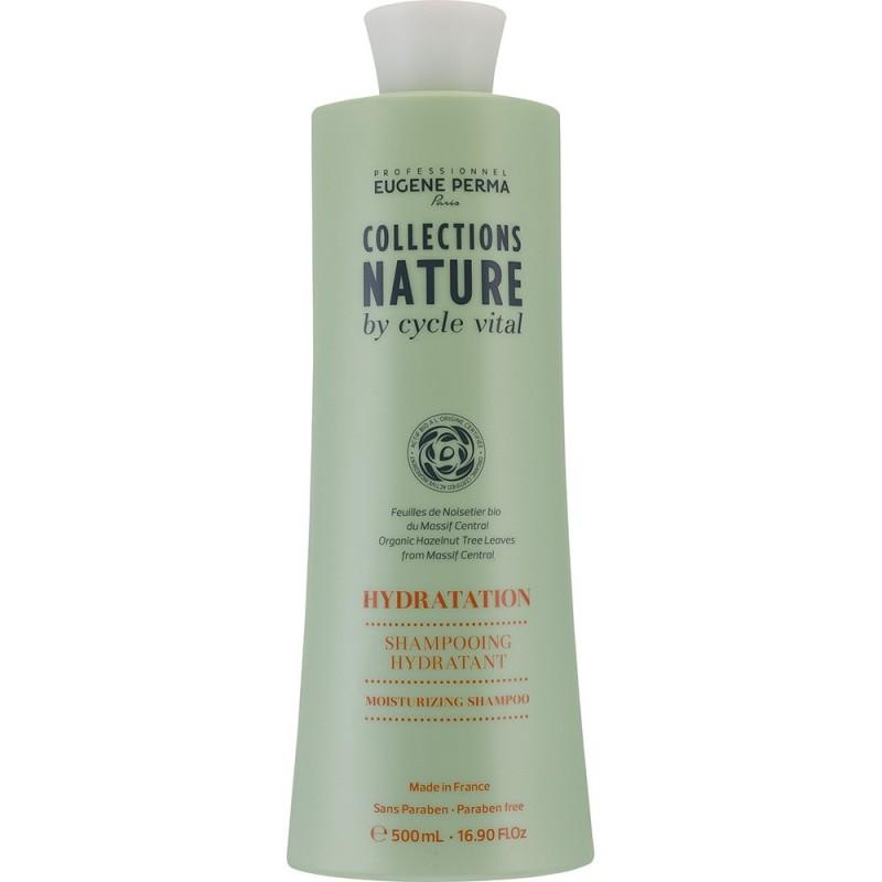 Eugene Perma Cycle Vital Nature Shampooing Hydratant - Шампунь для волос увлажняющий 500 мл21032998Мягко очищает и увлажняет волосы, восстанавливает гидролипидный баланс. Придает гладкость, шелковистость и блеск.Молодые листья орешника из Центрального массива являются самым природным эликсиром красоты, и высоко ценятся за свои антиокисляющие и реконструирующие свойства