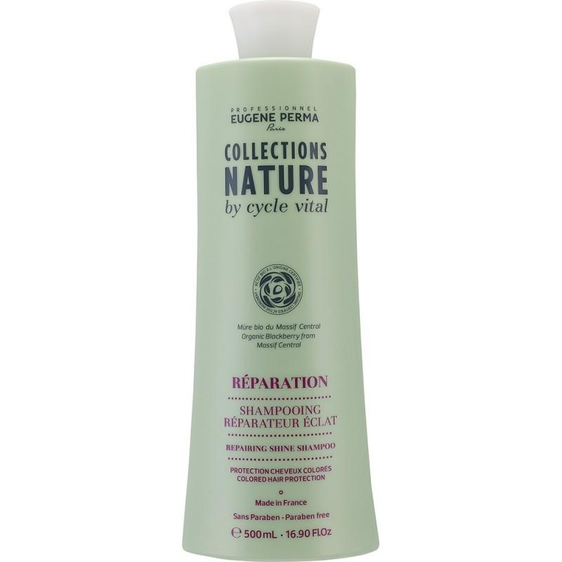 Eugene Perma Cycle Vital Nature Shampooing Reparateur Eclat - Шампунь для восстановления блеска волос 250 мл прямой краситель золотисто светло каштановый eugene perma eugene perma mp002xw0dsg7