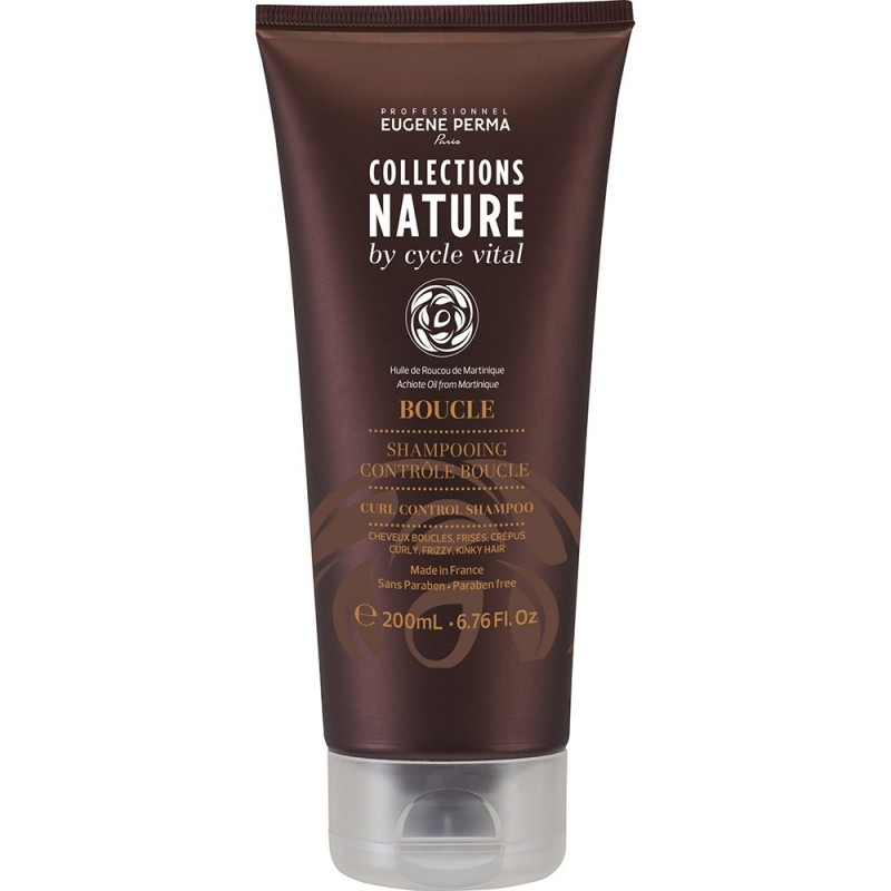 Eugene Perma Cycle Vital Nature Shampooing Controle Boucle - Шампунь для вьющихся волос 250 мл прямой краситель золотисто светло каштановый eugene perma eugene perma mp002xw0dsg7