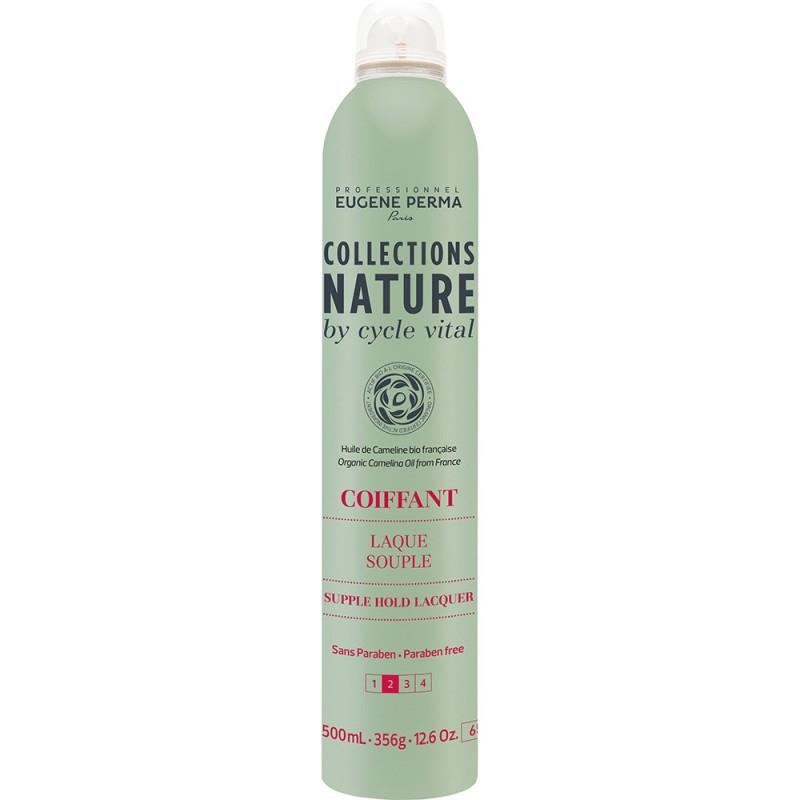 Eugene Perma Cycle Vital Nature Laque Souple - Лак для эластичной фиксации волос 500 мл21033018Идеален для создания естественных причесок. Легко удаляется при расчесывании. Придает роскошный блеск. Защищает волосы от воздействия влаги. Фактор фиксации: 2 из 4