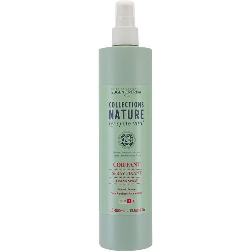 Eugene Perma Cycle Vital Nature Spray Fixant - Лак без газа для фиксации волос 400 мл21033022Обеспечивает сильную фиксацию. Идеально подходит и как финишное средство и в процессе формирования прически. Фактор фиксации: 3 из 4