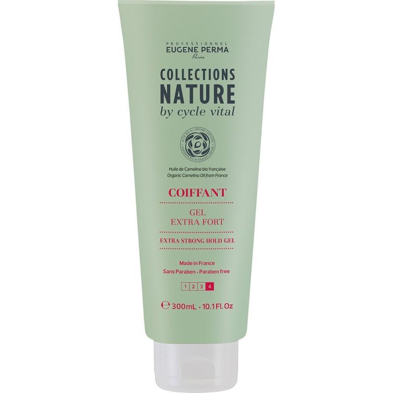 Eugene Perma Cycle Vital Nature Gel Extra Fort - Гель для экстрасильной фиксации волос 300 мл21033023Обеспечивает максимальную длительную фиксацию. Идеально подходит для создания экстремальных образов. Фактор фиксации: 4 из 4