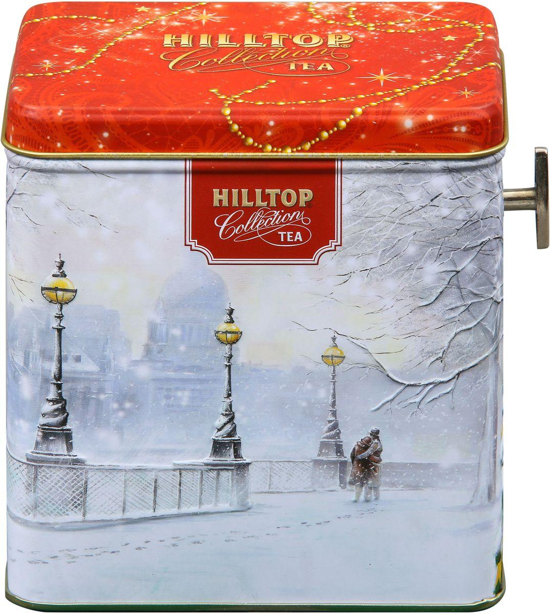 Hilltop Шкатулка Заснеженный город Эрл Грей ароматизированный листовой чай, 100 г mabroc эрл грей чай черный листовой 100 г