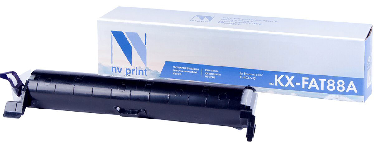 NV Print KX-FAT88A, Black тонер-картридж для Panasonic KX-FL403/413 картридж nv print kx fat431a7 для panasonic kx mb2230ru 2270ru 2510ru 2540ru