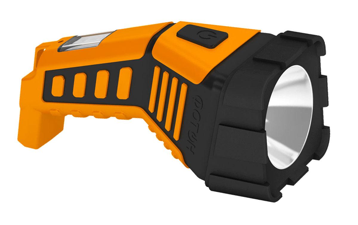 Фонарь резиновый Фотон RPM-550022702Материал корпуса – ABS-пластик Материал головной части – резина Покрытие элементов фонаря – Soft-touch Источник света – светодиод 3Вт Дальность луча, м – 200 Панель рассеянного света – 6 SMD-диодов Время работы на одном заряде - до 10ч. Питание - аккумулятор свинцово-кислотный 4V*1A Выключатель - нажимной, боковой