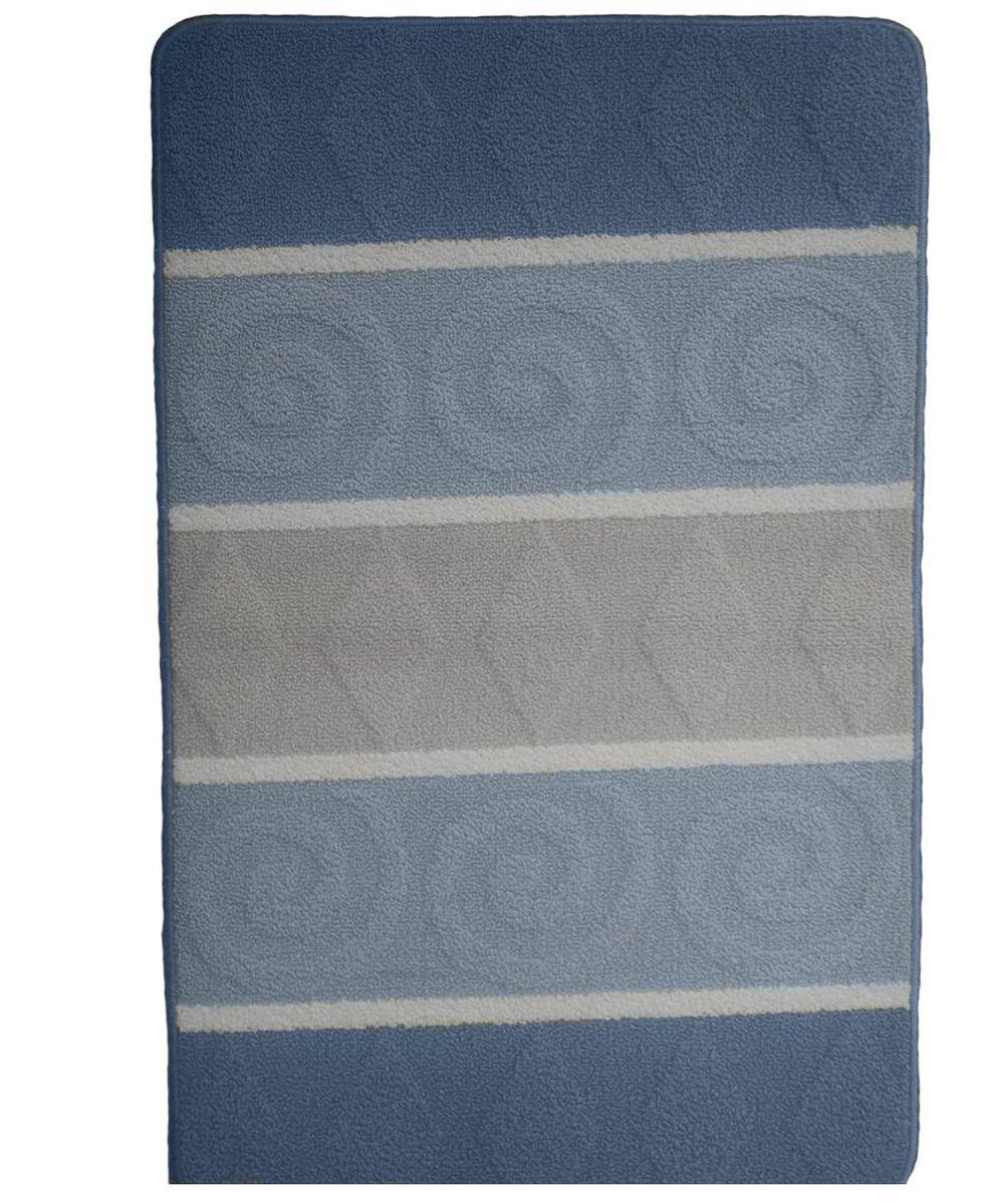 Коврик для ванной Kamalak Tekstil, цвет: серый, 60 x 100 см. УКВ-1003УКВ-1003Ковры-паласы выполнены из полипропилена. Ковры обладают хорошими показателями теплостойкости и шумоизоляции. Являются гиппоалергенными. За счет невысокого ворса ковры легко чистить. Вам придется по душе широкая гамма цветов и возможность гармонично оформить интерьер. Практичный и устойчивый к износу ворс - от постоянного хождения не истирается, не накапливает статическое электричество. Структура волокна в полипропиленовых моделях гладкая, поэтому грязь не может выесться, на ворсе она скапливается с трудом. Полипропилен не впитывает влагу, отталкивает водянистые пятна. Уход: Самый простой способ избавить изделие от грязи – пропылесосить его с обеих сторон (лицевой и изнаночной).Влажная уборка с применением шампуней и моющих средств не противопоказана. Если шерсти и шёлку универсальные чистящие составы не подходят, то для синтетики они придутся в самый раз.Хранить их нужно рулоном, не складывая «салфеткой».При надлежащем уходе синтетический ковёр прослужит долго, не утратив ни яркости узора, ни блеска ворса, ни его упругости.