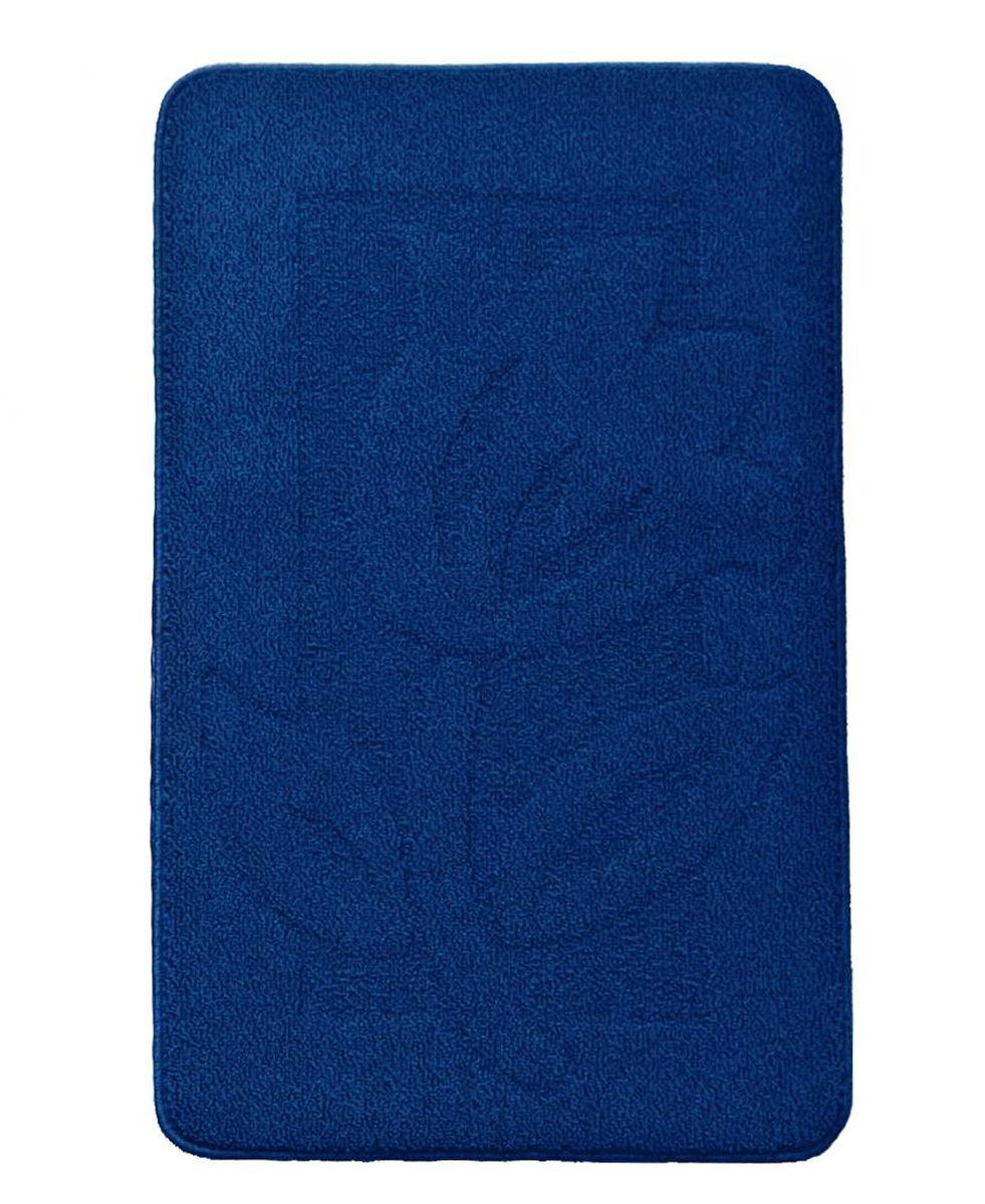 Коврик для ванной Kamalak Tekstil, цвет: синий, 60 х 100 смУКВ-1009Ковер Kamalak Tekstil изготовлен из прочного синтетического материала heat-set, улучшенного варианта полипропилена (эта нить получается в результате его дополнительной обработки). Полипропилен износостоек, нетоксичен, не впитывает влагу, не провоцирует аллергию. Структура волокна в полипропиленовых коврах гладкая, поэтому грязь не будет въедаться и скапливаться на ворсе. Практичный и износоустойчивый ворс не истирается и не накапливает статическое электричество. Ковер обладает хорошими показателями теплостойкости и шумоизоляции. Оригинальный рисунок позволит гармонично оформить интерьер комнаты, гостиной или прихожей. За счет невысокого ворса ковер легко чистить. При надлежащем уходе синтетический ковер прослужит долго, не утратив ни яркости узора, ни блеска ворса, ни упругости. Самый простой способ избавить изделие от грязи - пропылесосить его с обеих сторон (лицевой и изнаночной). Влажная уборка с применением шампуней и моющих средств не противопоказана. Хранить рекомендуется в свернутом рулоном виде.