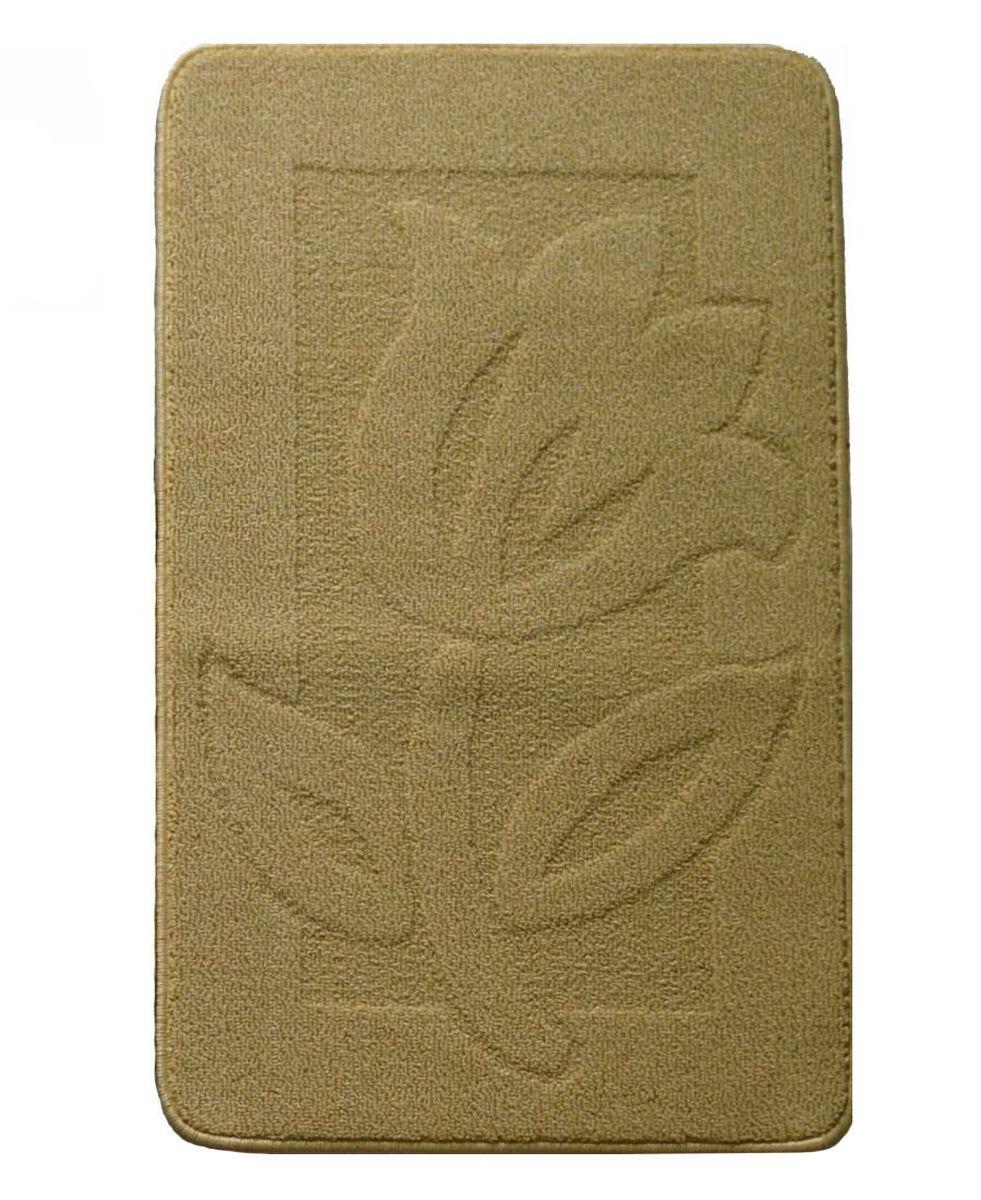 Коврик для ванной Kamalak Tekstil, цвет: коричневый, 60 x 100 см. УКВ-1010УКВ-1010Ковры-паласы выполнены из полипропилена. Ковры обладают хорошими показателями теплостойкости и шумоизоляции. Являются гиппоалергенными. За счет невысокого ворса ковры легко чистить. Вам придется по душе широкая гамма цветов и возможность гармонично оформить интерьер. Практичный и устойчивый к износу ворс - от постоянного хождения не истирается, не накапливает статическое электричество. Структура волокна в полипропиленовых моделях гладкая, поэтому грязь не может выесться, на ворсе она скапливается с трудом. Полипропилен не впитывает влагу, отталкивает водянистые пятна. Уход: Самый простой способ избавить изделие от грязи – пропылесосить его с обеих сторон (лицевой и изнаночной).Влажная уборка с применением шампуней и моющих средств не противопоказана. Если шерсти и шёлку универсальные чистящие составы не подходят, то для синтетики они придутся в самый раз.Хранить их нужно рулоном, не складывая «салфеткой».При надлежащем уходе синтетический ковёр прослужит долго, не утратив ни яркости узора, ни блеска ворса, ни его упругости.