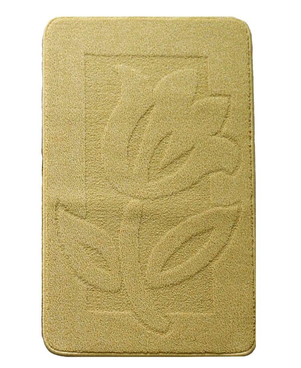 Коврик для ванной Kamalak Tekstil, цвет: желтый, 60 x 100 смУКВ-1012Ковер Kamalak Tekstil изготовлен из прочного синтетического материала heat-set, улучшенного варианта полипропилена (эта нить получается в результате его дополнительной обработки). Полипропилен износостоек, нетоксичен, не впитывает влагу, не провоцирует аллергию. Структура волокна в полипропиленовых коврах гладкая, поэтому грязь не будет въедаться и скапливаться на ворсе. Практичный и износоустойчивый ворс не истирается и не накапливает статическое электричество. Ковер обладает хорошими показателями теплостойкости и шумоизоляции. Оригинальный рисунок позволит гармонично оформить интерьер комнаты, гостиной или прихожей. За счет невысокого ворса ковер легко чистить. При надлежащем уходе синтетический ковер прослужит долго, не утратив ни яркости узора, ни блеска ворса, ни упругости. Самый простой способ избавить изделие от грязи - пропылесосить его с обеих сторон (лицевой и изнаночной). Влажная уборка с применением шампуней и моющих средств не противопоказана. Хранить рекомендуется в свернутом рулоном виде.