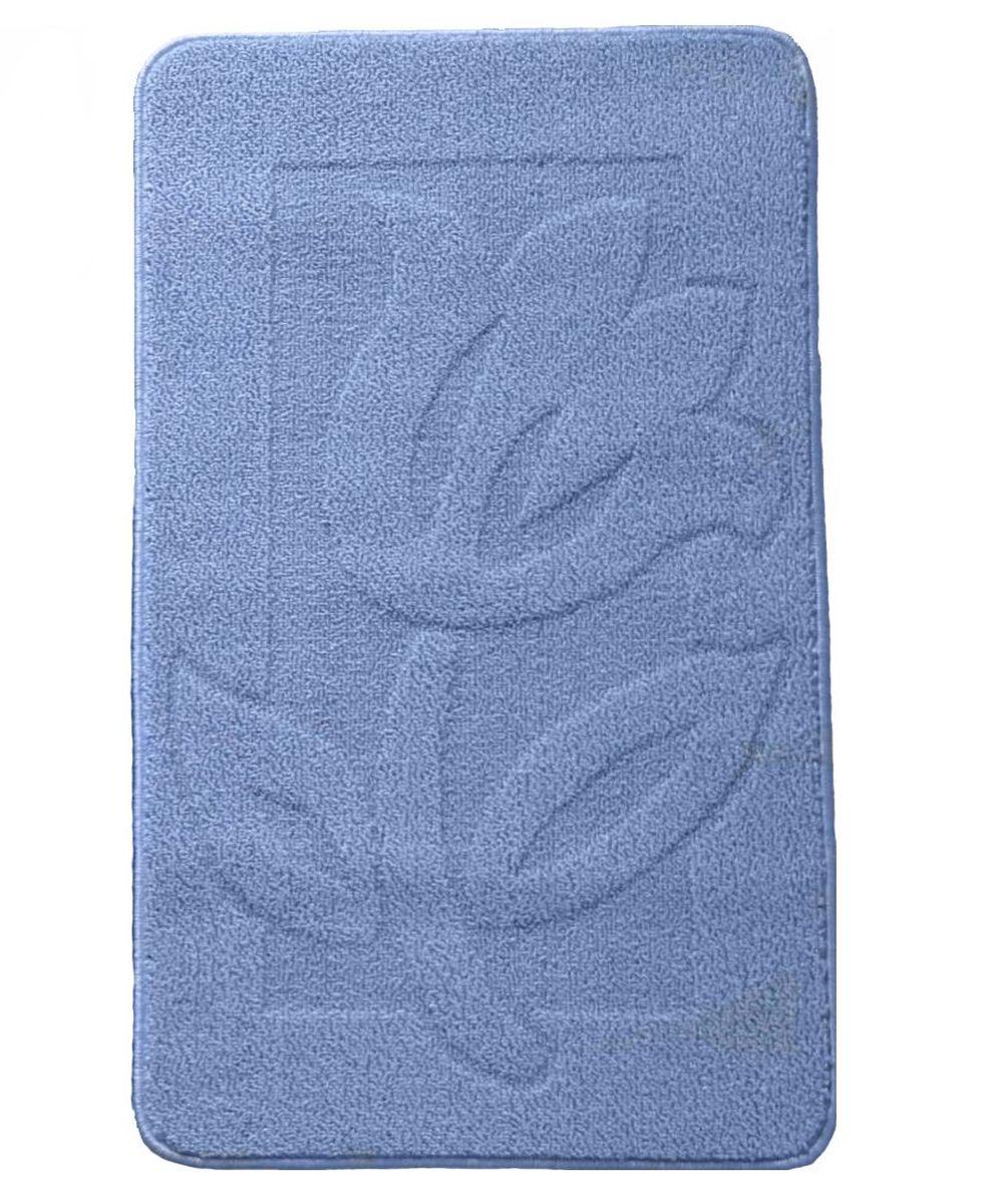 Коврик для ванной Kamalak Tekstil, цвет: голубой, 60 х 100 см. УКВ-1013УКВ-1013Ковер Kamalak Tekstil изготовлен из полипропилена. Полипропилен износостоек, нетоксичен, не впитывает влагу, не провоцирует аллергию. Структура волокна в полипропиленовых коврах гладкая, поэтому грязь не будет въедаться и скапливаться на ворсе. Практичный и износоустойчивый ворс не истирается и не накапливает статическое электричество. Ковер обладает хорошими показателями теплостойкости и шумоизоляции. За счет невысокого ворса ковер легко чистить. При надлежащем уходе синтетический ковер прослужит долго, не утратив ни яркости узора, ни блеска ворса, ни упругости. Самый простой способ избавить изделие от грязи - пропылесосить его с обеих сторон (лицевой и изнаночной). Влажная уборка с применением шампуней и моющих средств не противопоказана. Хранить рекомендуется в свернутом рулоном виде.