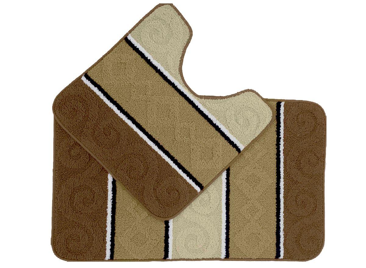 Набор ковриков для ванной комнаты Kamalak Tekstil, цвет: бежевый, 2 шт. УКВ-1033УКВ-1033Ковры-паласы Kamalak Tekstil выполнены из полипропилена. Ковры обладают хорошими показателями теплостойкости и шумоизоляции. Являются гиппоалергенными. За счет невысокого ворса ковры легко чистить. Вам придется по душе широкая гамма цветов и возможность гармонично оформить интерьер. Практичный и устойчивый к износу ворс - от постоянного хождения не истирается, не накапливает статическое электричество. Структура волокна в полипропиленовых моделях гладкая, поэтому грязь не может въесться, на ворсе она скапливается с трудом. Полипропилен не впитывает влагу, отталкивает водянистые пятна. Уход: Самый простой способ избавить изделие от грязи – пропылесосить его с обеих сторон (лицевой и изнаночной). Влажная уборка с применением шампуней и моющих средств не противопоказана. Если шерсти и шёлку универсальные чистящие составы не подходят, то для синтетики они придутся в самый раз. Хранить их нужно рулоном, не складывая салфеткой.При надлежащем уходе синтетический ковёр прослужит долго, не утратив ни яркости узора, ни блеска ворса, ни его упругости.
