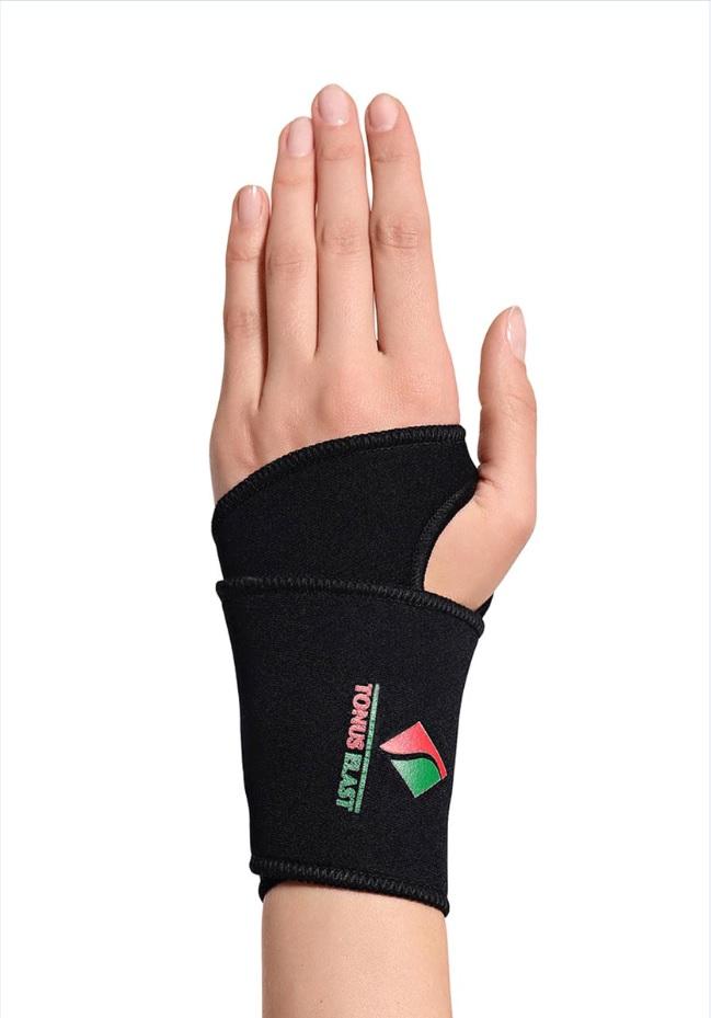 Повязка Tonus Elast для фиксации лучезапястного сустава. 000 1. Размер 1000 1Повязка эластичная из неопрена для фиксации лучезапястного сустава. Предназначена для использования в качестве лечебно-профилактического средства для фиксации, защиты и поддержания в состоянии покоя связочного аппарата и мягких тканей сустава.Можно использовать как на левую, так и на правую руку.