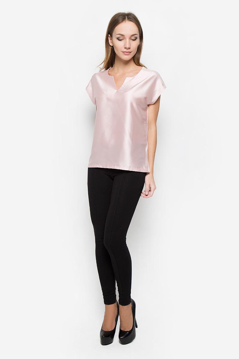 Блузка женская Broadway Nadina, цвет: пепельно-розовый. 10156670. Размер S (44)10156670_302Элегантная женская блуза Broadway Nadina, выполненная из полиэстера с добавлением вискозы, подчеркнет ваш уникальный стиль и поможет создать оригинальный женственный образ.Блузка без рукавов с V-образным вырезом горловины и удлиненной спинкой имеет свободный крой. Удлиненные плечи модели красиво драпируются, имитируя рукав-крылышко. Эта блузка будет дарить вам комфорт в течение всего дня и послужит замечательным дополнением к вашему гардеробу.