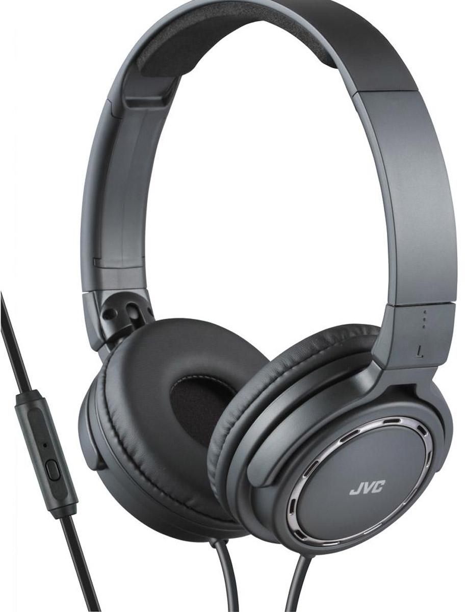 JVC HA-SR525-B, Black наушникиHA-SR525-BПортативные накладные наушники JVC HA-SR525-B со звуком премиум класса, имеют проводной пульт с микрофоном, совместимый с iPhone/iPod/iPad/Android BlackBerry. Наушники с кольцевыми портами, динамической головкой с 36 мм диафрагмой и неодимовыми магнитами обеспечивают превосходное качество звука. Удобные и мягкие амбушюры сделаны для качественной звуко-изоляции. Легкий вес наушников обеспечивает комфорт во время прослушивания. Наушники имеют 1,2 м шнур с жилами из меди с позолоченным, тонким штекером L-типа.