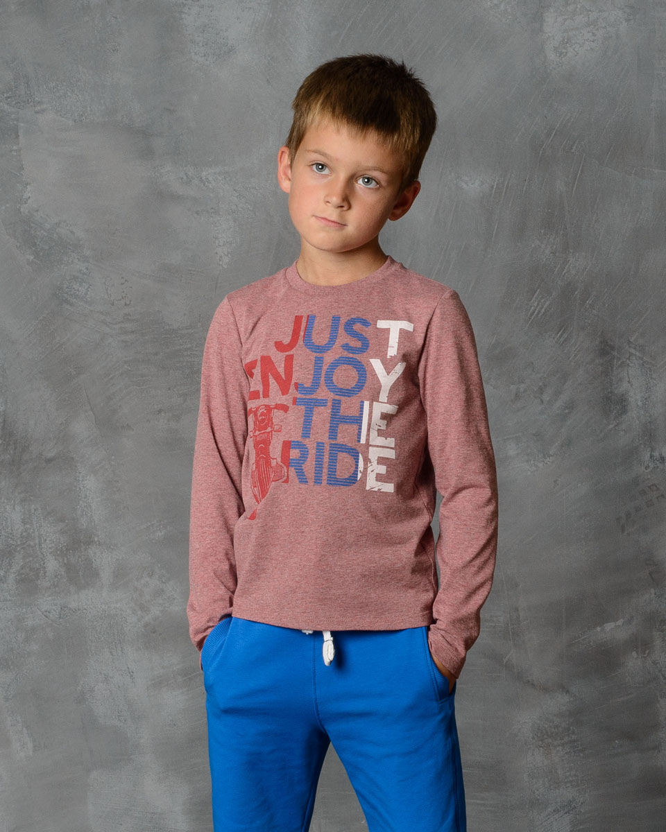 Футболка с длинным рукавом для мальчика Modniy Juk, цвет: бордовый меланж. 02В00010100. Размер 14602В00010100/JUST_RIDEФутболка Modniy Juk изготовлена из мягчайшего высококачественного хлопка. Модель полуприлегающего силуэта с удлиненными зауженными рукавами и круглым вырезом горловины. Не стесняет движения. Яркий принт в стиле Modniy Juk.