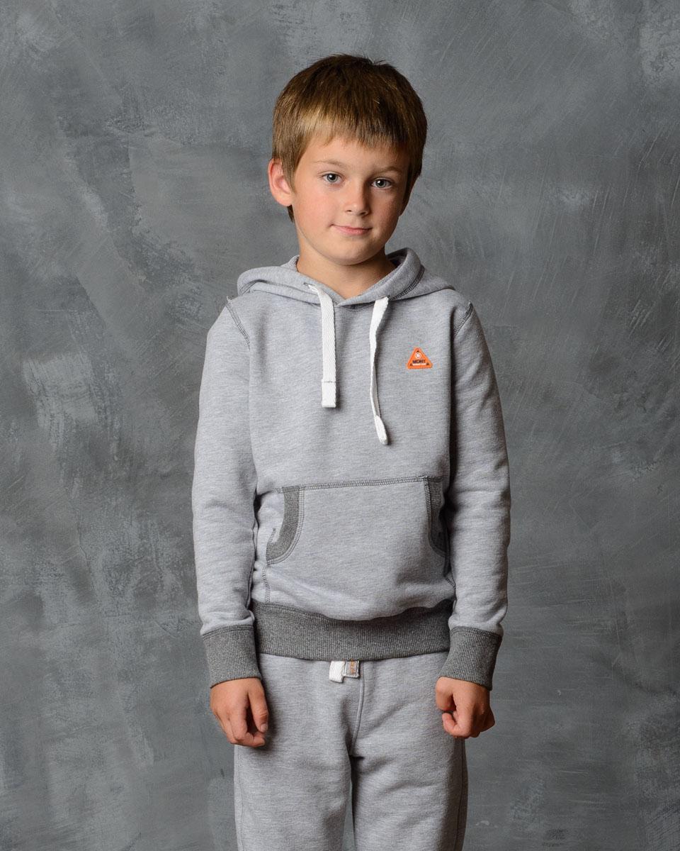 Толстовка для мальчика Modniy Juk, цвет: серый меланж. 25В00030702. Размер 140 джемперы modniy juk джемпер
