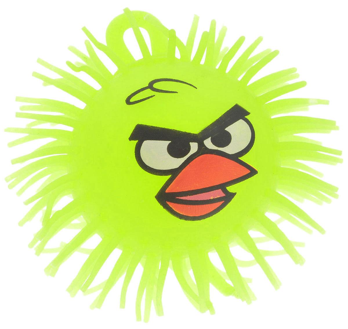 1TOY Игрушка-антистресс Ё-Ёжик Злая птичка цвет желтый диаметр 12 см злая птица ё ёжик со светомт56233
