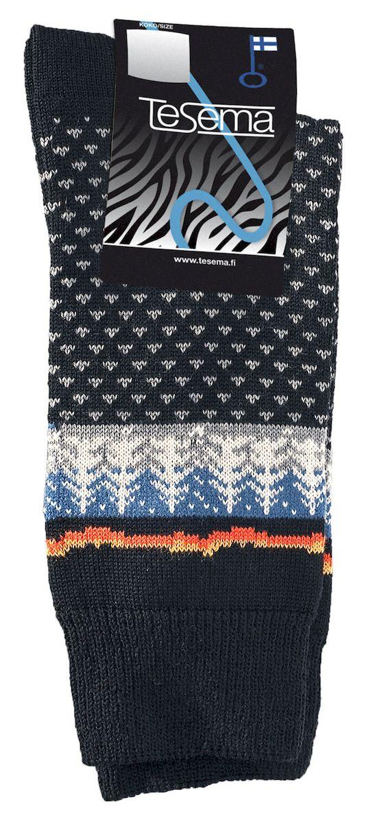 Теплые носки с шерстью мериноса средней плотности. Отлично подходят как для специализированной, спортивной так и для городской обуви, а также для повседневной носки. Средняя высота носка. Носки Tesema это настоящее финское качество!