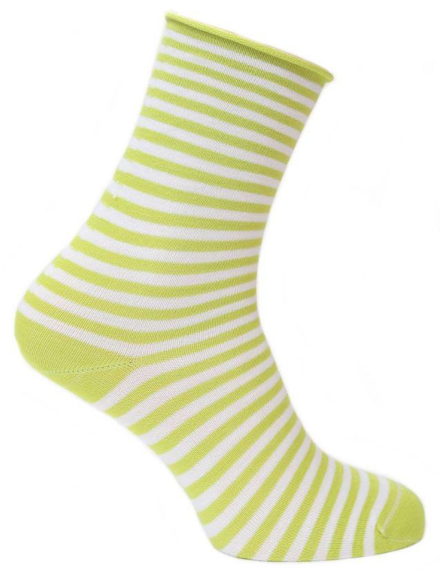 Носки женские Tesema, цвет: салатовый, белый. 2543. Размер 34/362543Женские носки для повседневной носки средней плотности, без резинки. Обладают высокой износостойкостью. Мягкое как шелк природное волокно бамбука придает чрезвычайно нежное ощущение при соприкосновении с кожей, хорошо дышит, впитывает влагу и распределяет тепло. Носок и пятка сотканы из сученой нити, что значительно увеличивает износостойкость носок. Носки Tesema - традиционно высокое европейское качество и финские технологии.