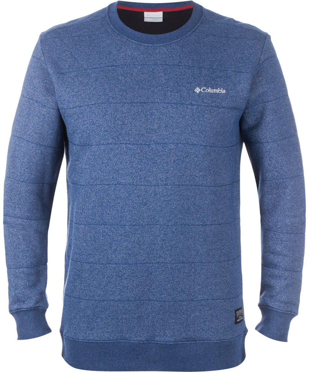 Джемпер мужской Columbia Great Hart Mountain, цвет: синий. 1512851-469. Размер XL (52/54)1512851-469Мужской джемпер - отличный вариант для использования в повседневной жизни. Хлопок в составе обеспечивает комфорт и мягкость, а полиэстер - легкость в уходе и износостойкость. Джемпер хорошо сочетается с джинсами и брюками. Крой классический, приталенный, рукава и основание на манжетах, горловина О-образная. Особенностью джемпера выступает гиппоаллергенность и хорошая воздухопроницаемость. На груди логотип бренда.