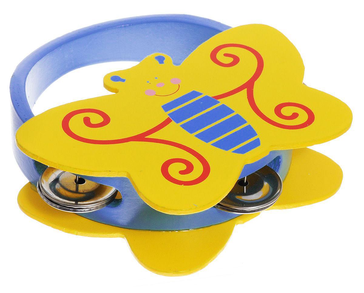 Фабрика Фантазий Бубен Бабочка цвет желтый