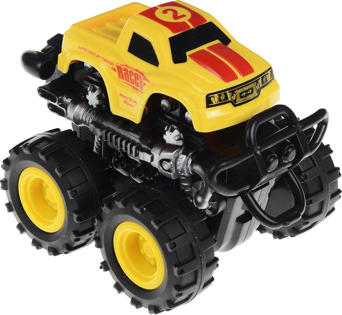Big Motors Машинка инерционная 4 WD цвет желтый №2 big motors квадроцикл инерционный 4 wd цвет желтый