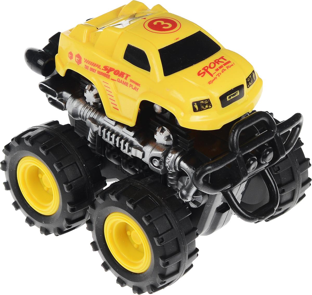 Big Motors Машинка инерционная 4 WD цвет желтый №3