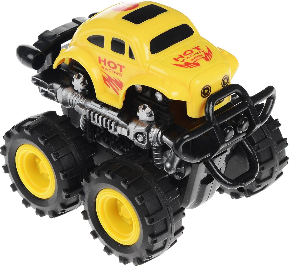Big Motors Машинка инерционная 4 WD цвет желтый №1 tomy машинка трактор с большими колесами с подсветкой и звуком