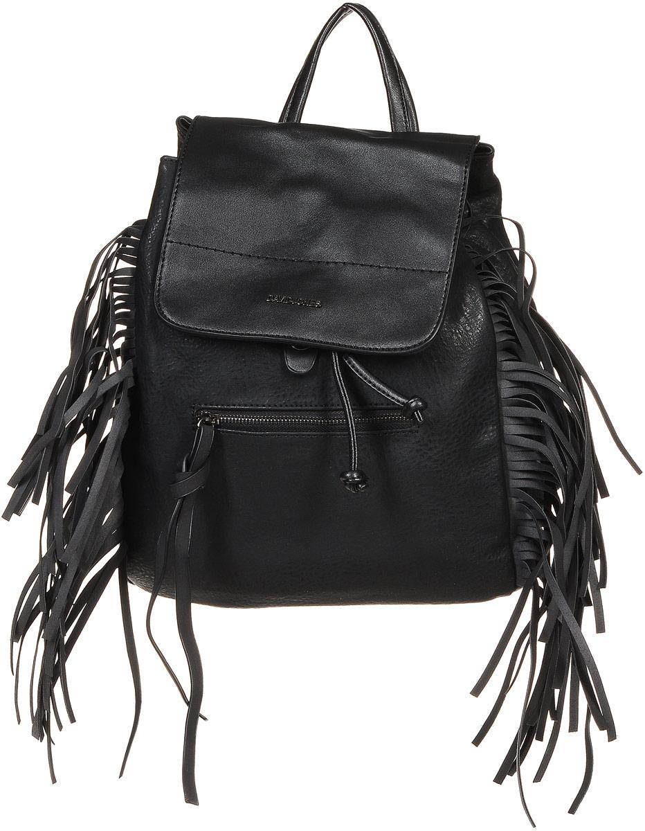 Рюкзак женский David Jones, цвет: черный. 5238-2
