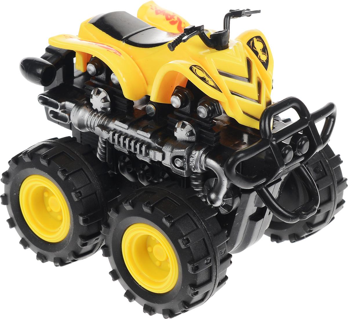 Big Motors Квадроцикл инерционный 4 WD цвет желтый big motors квадроцикл инерционный 4 wd цвет желтый