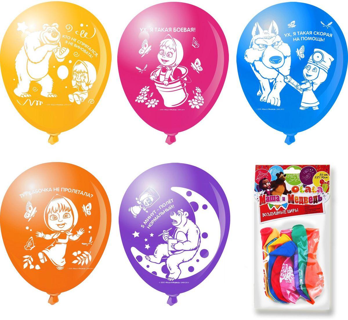 Маша и Медведь Набор воздушных шаров 10 шт набор для лепки росмэн маша и медведь сладкая идея 30411