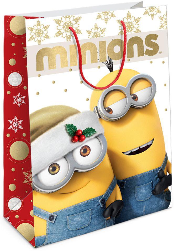 Universal Миньоны Пакет подарочный Рождество Миньонов 35 см х 25 см х 9 см -  Аксессуары для детского праздника