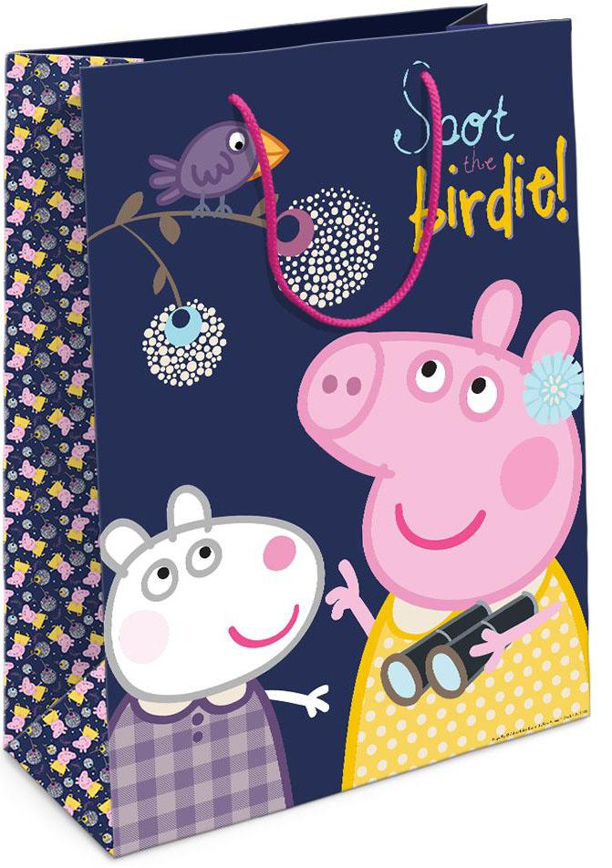 Peppa Pig Пакет подарочный Пеппа и птица, Росмэн