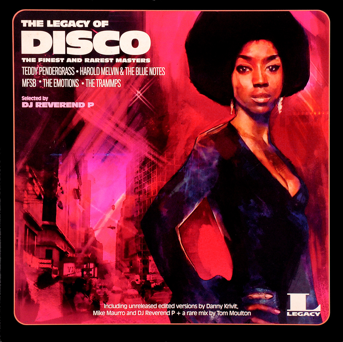 M.F.S.B.,The Emotions,DJ Reverend P,Тэдди Пендерграсс,Danny Krivit,Mike Maurro,Гарольд Мелвин,The Blue Notes,The Trammps The Legacy Of Disco (2 LP) the o jays earth wind and fire билл уизерс dj reverend p shelter m f s b билли пол гарольд мелвин the blue notes тайрон дэвис the legacy of soul 2 lp
