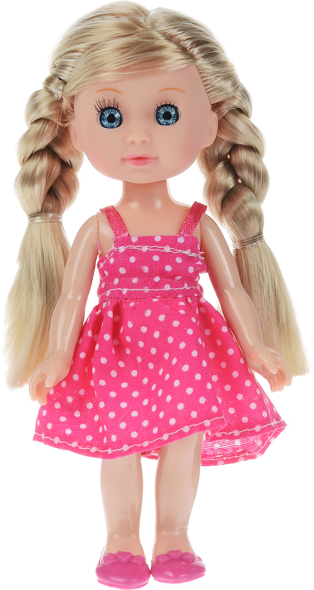 Карапуз Мини-кукла Машенька блондинка цвет платья розовый куклы карапуз кукла карапуз