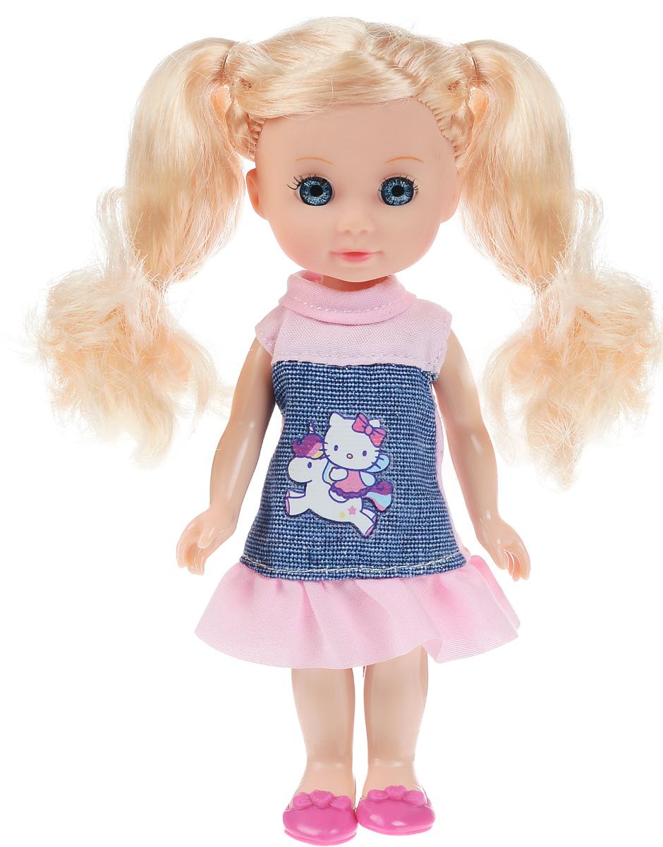 Карапуз Мини-кукла Машенька блондинка цвет платья джинсовый розовый