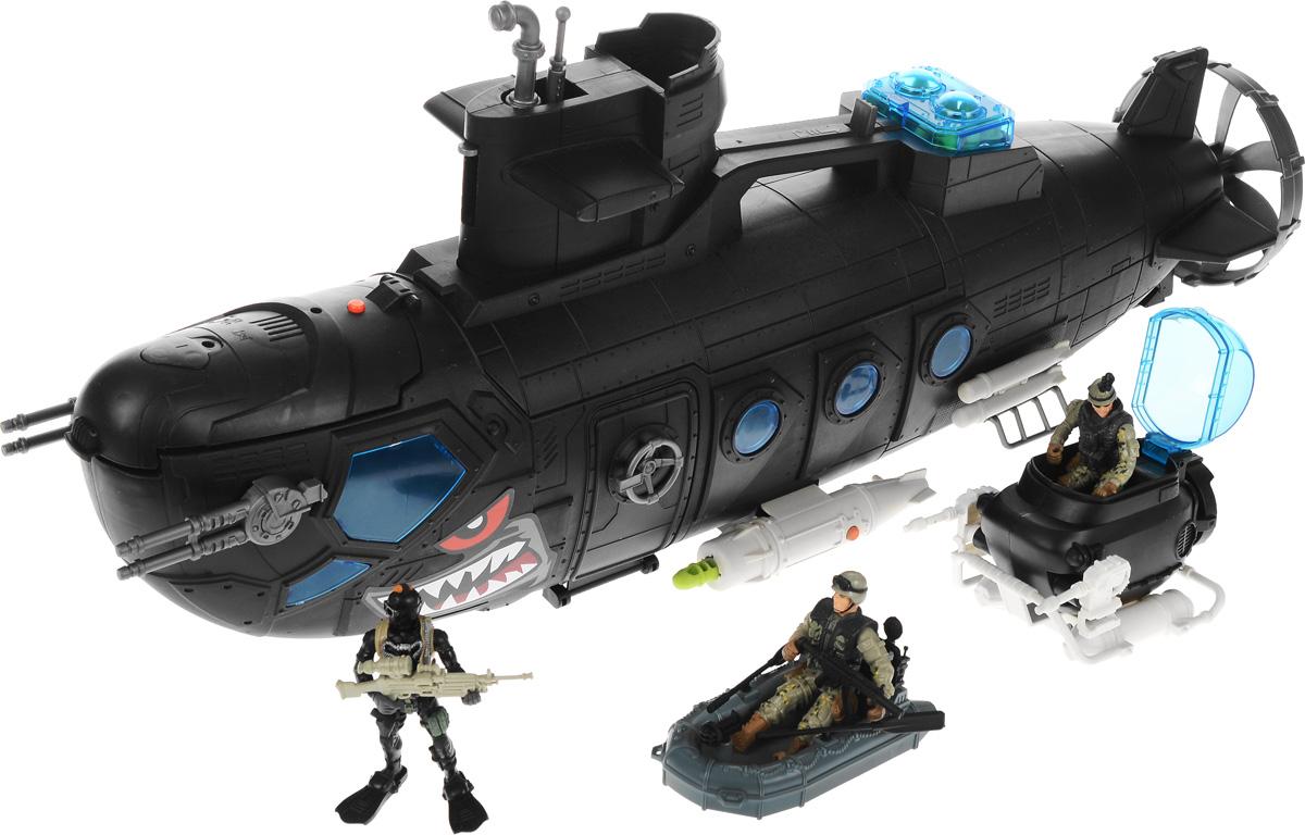 игрушки интерактивные chap mei игрушки интерактивные Chap Mei Игровой набор Боевая субмарина с батискафом