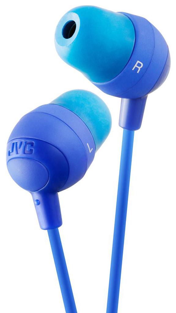 JVC Marshmallow HA-FX32-A, Blue наушникиHA-FX32-AНаушники JVC Marshmallow HA-FX32-A овальной формы из мягкой резины обеспечивают комфортное и удобное прилегание. Благодаря неодимовому магниту, используемому в 11 мм драйверах, вы получаете качественное звучание. Наушники имеют кабель длиной 1.2 м с позолоченный штекером, также совместимым с iPhone.