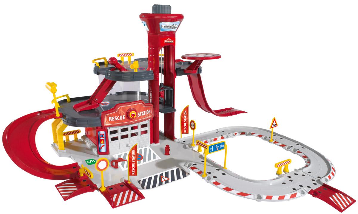 Majorette Игровой набор Пожарная станция Creatix машины majorette парковка пожарная станция cratix вертолет машинка