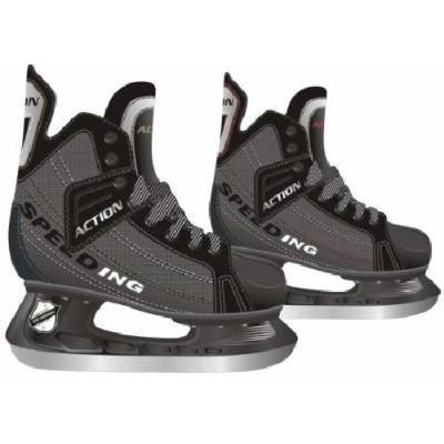 Коньки хоккейные мужские Action, цвет: серый, черный. PW-216. Размер 41