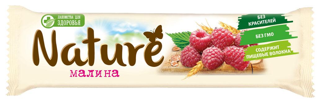 Лакомства для здоровья Nature батончик мюсли Малина, 30 г pikki мюсли кокос кешью шоколад батончик орехово фруктовый 50 г