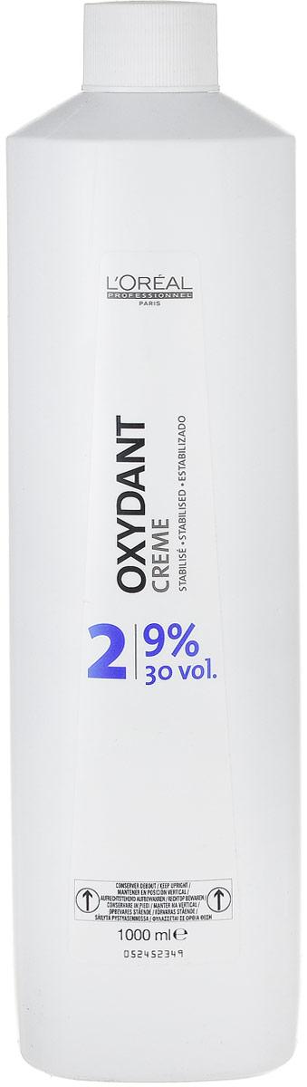 LOreal Professionnel Крем-оксидент 9% Oxydant-Cream, 1000 млE0449329Средство Оксидент разработано специально для применения в комплексе с крем-краской. Оно дает возможность осуществить окрашивание без какого-либо вреда для структуры волос. Результатом этого окажется получение более яркого и стойкого цвета.Подобный эффект возможен исключительно благодаря микрокатионному полимеру Ионен G, обеспечивающему неповторимой равномерное распределение окраски и протекцию волос не только изнутри, но еще и снаружи.Благодаря восковой основе, происходит бережное окутывание каждого волоска протекционным слоем, именно он препятствует влиянию отрицательных факторов окружающей среды и положительно влияет на стойкость и удержание оттенка.