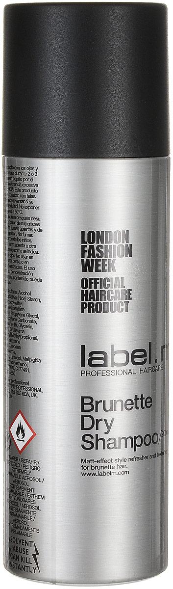 Label.m Сухой шампунь для брюнеток Dry Shampoo, 200 млLSBR0200*Label.M Dry Shampoo Сухой шампунь для брюнетокЭтот уникальный шампунь является легким, порошковым аэрозолем, который позволит вам качественно освежить и обновить укладку волос, при этом не нужно будет мыть голову, это необходимо в тех случаях, когда у вас нет возможности помыть волосы. Это средство хорошо поможет создать сухую, матовую текстуру и объемность вашей прически. Сухой шампунь отлично подойдёт для постоянного применения и достижения наилучшей фиксации прически, а ещё помогает завить волосы, и хорошо увлажнить их. Повседневное применение шампуня от Лебел М позволит вашим волосам получать требуемую стимуляцию, они будут надёжно защищены от плохого влияния ультрафиолетовых лучей.Этот шампунь поможет вам в любой ситуации качественно ухаживать за волосами, при этом он позволит вам выполнить необходимую укладку.