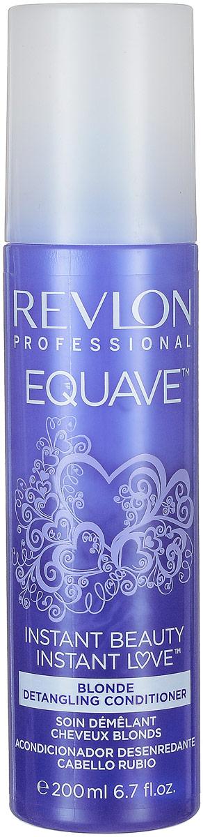 Revlon Professional Несмываемый кондиционер для блондированных, обесцвеченных, мелированных и седых волос Equave Instant Beauty Blonde Detangling 200 мл